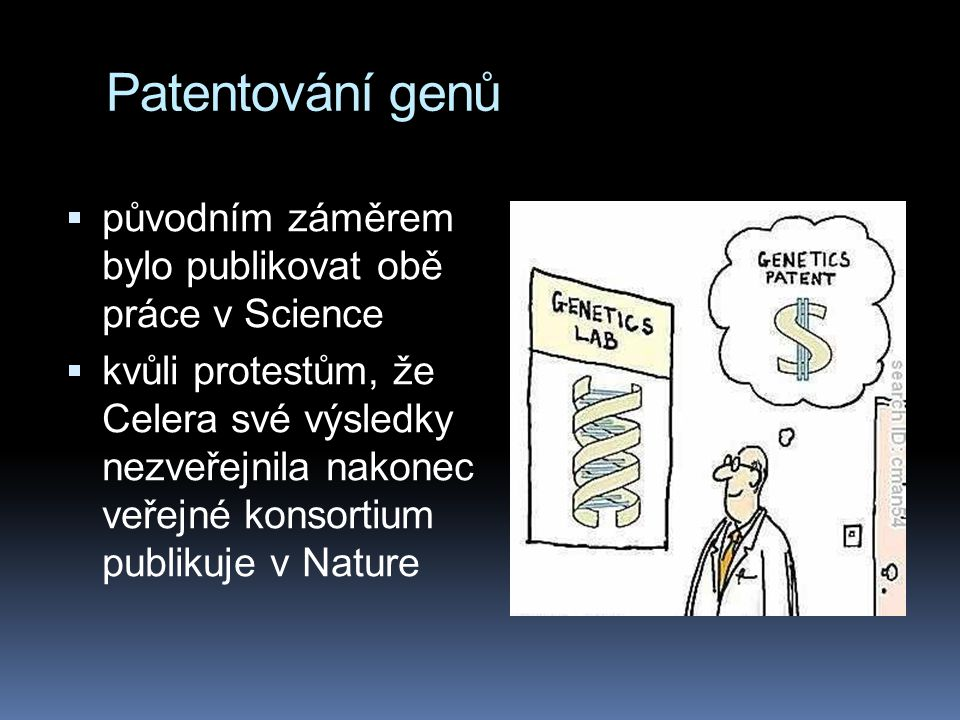 Patentování genů původním záměrem bylo publikovat obě práce v Science