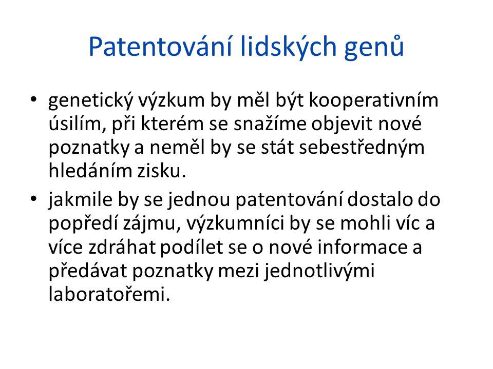 Patentování lidských genů