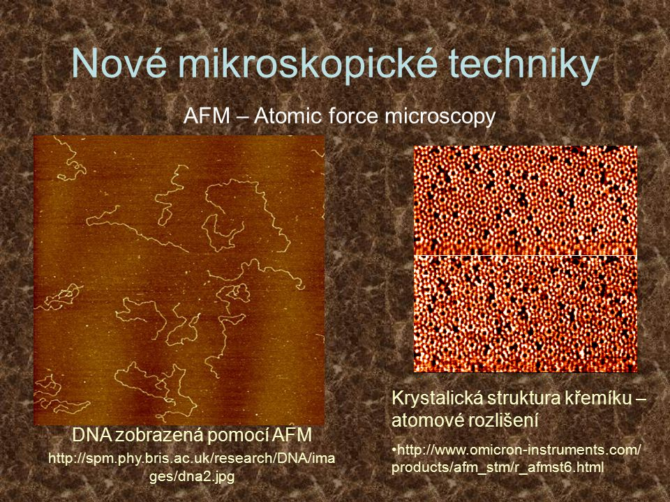Nové mikroskopické techniky