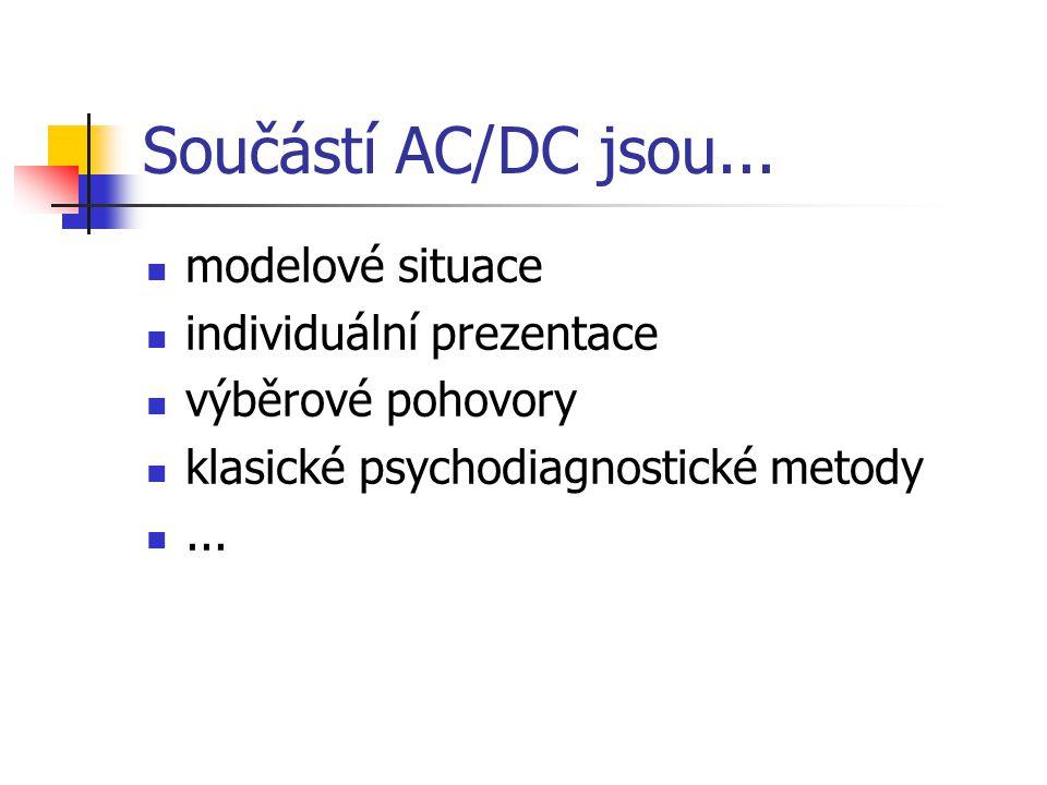 Součástí AC/DC jsou... modelové situace individuální prezentace
