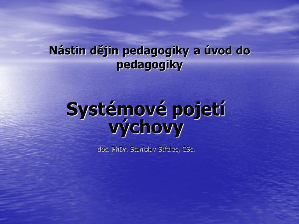 Nástin dějin pedagogiky a úvod do pedagogiky