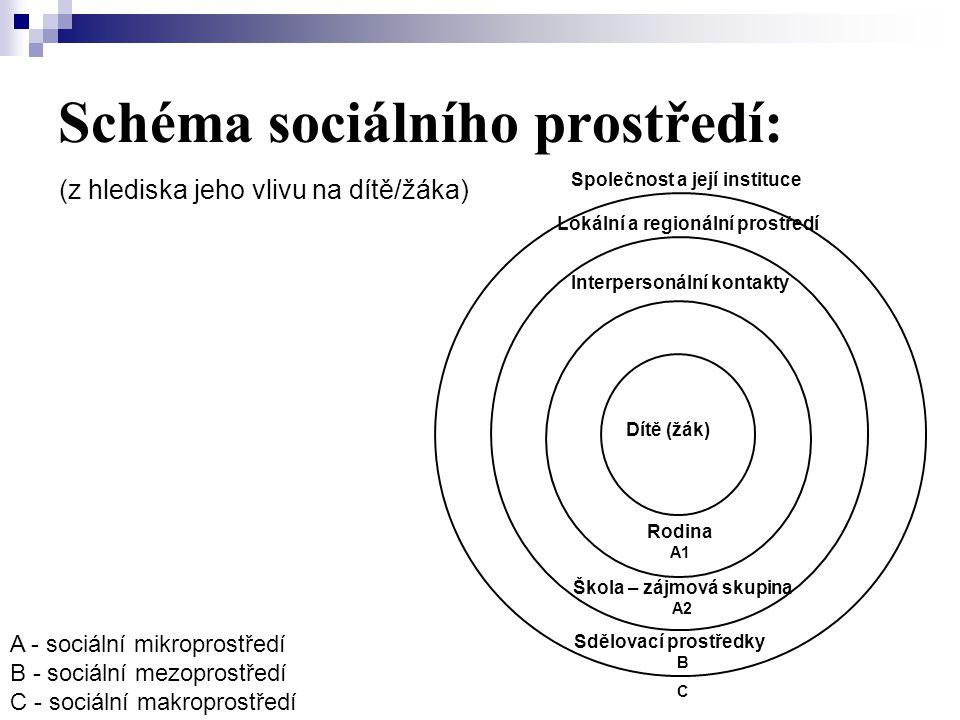 Schéma sociálního prostředí: