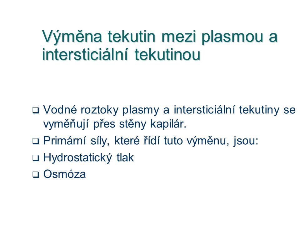 Výměna tekutin mezi plasmou a intersticiální tekutinou