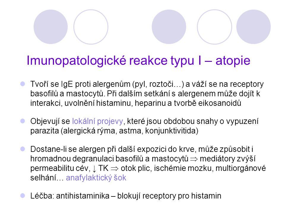 Imunopatologické reakce typu I – atopie