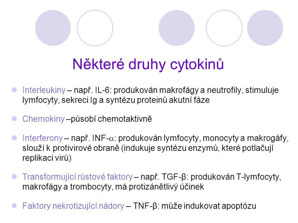 Některé druhy cytokinů
