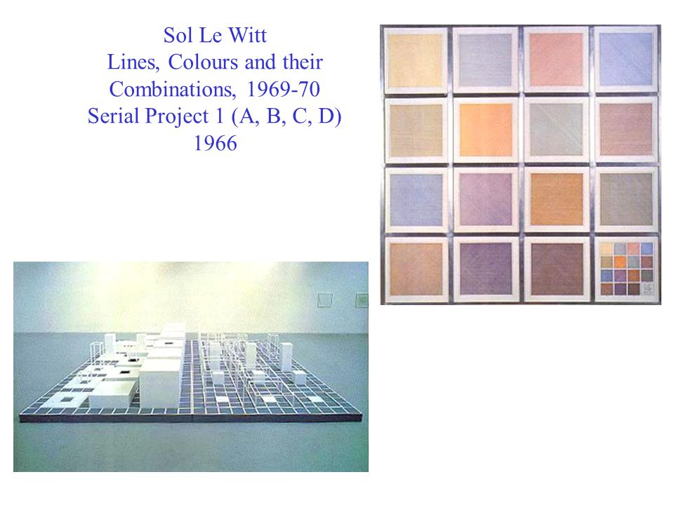 Sol Le Witt Lines, Colours and their Combinations, 1969-70 Serial Project 1 (A, B, C, D) 1966
