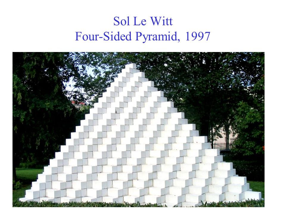 Sol Le Witt Four-Sided Pyramid, 1997