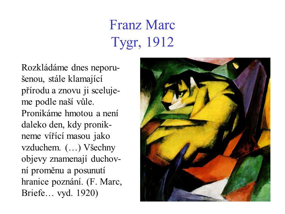 Franz Marc Tygr, 1912