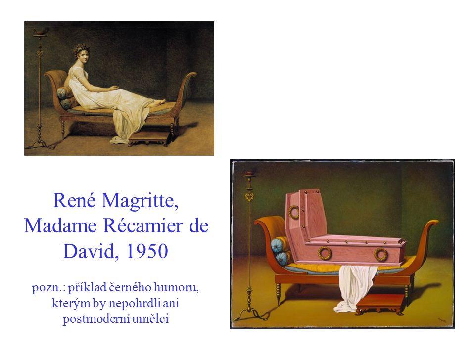 René Magritte, Madame Récamier de David, 1950 pozn
