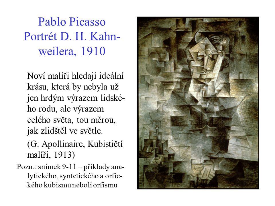 Pablo Picasso Portrét D. H. Kahn- weilera, 1910