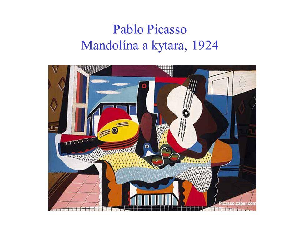 Pablo Picasso Mandolína a kytara, 1924