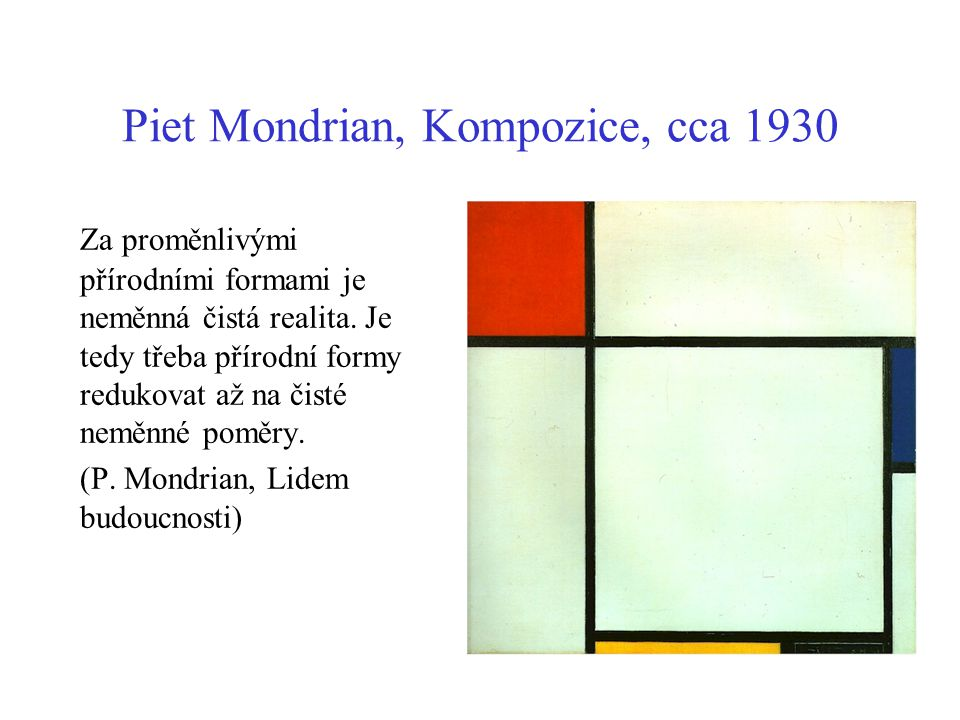 Piet Mondrian, Kompozice, cca 1930
