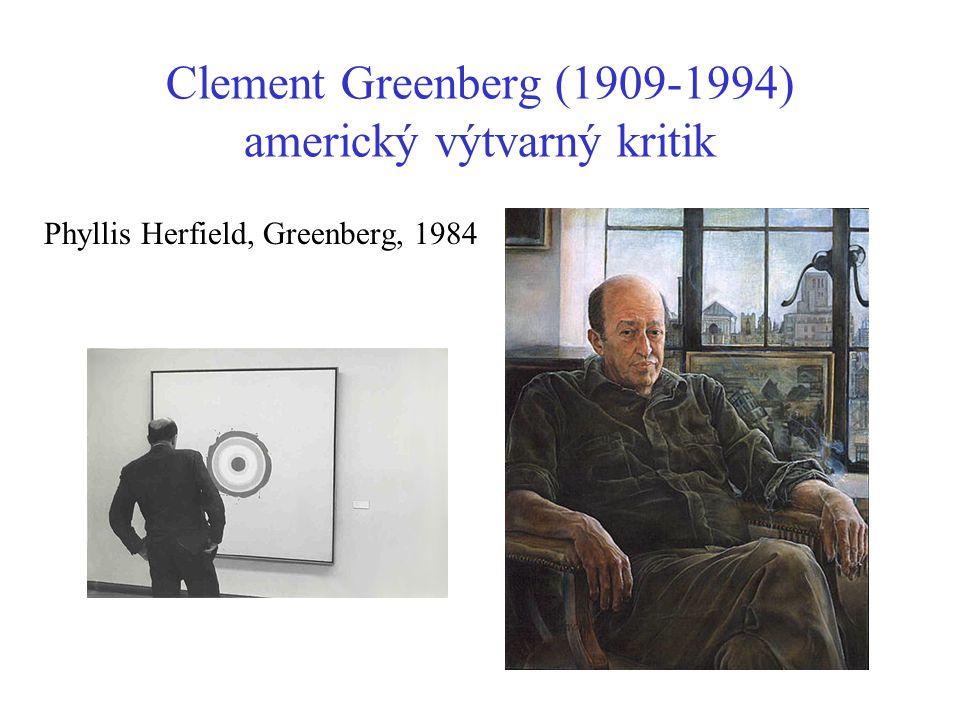 Clement Greenberg (1909-1994) americký výtvarný kritik