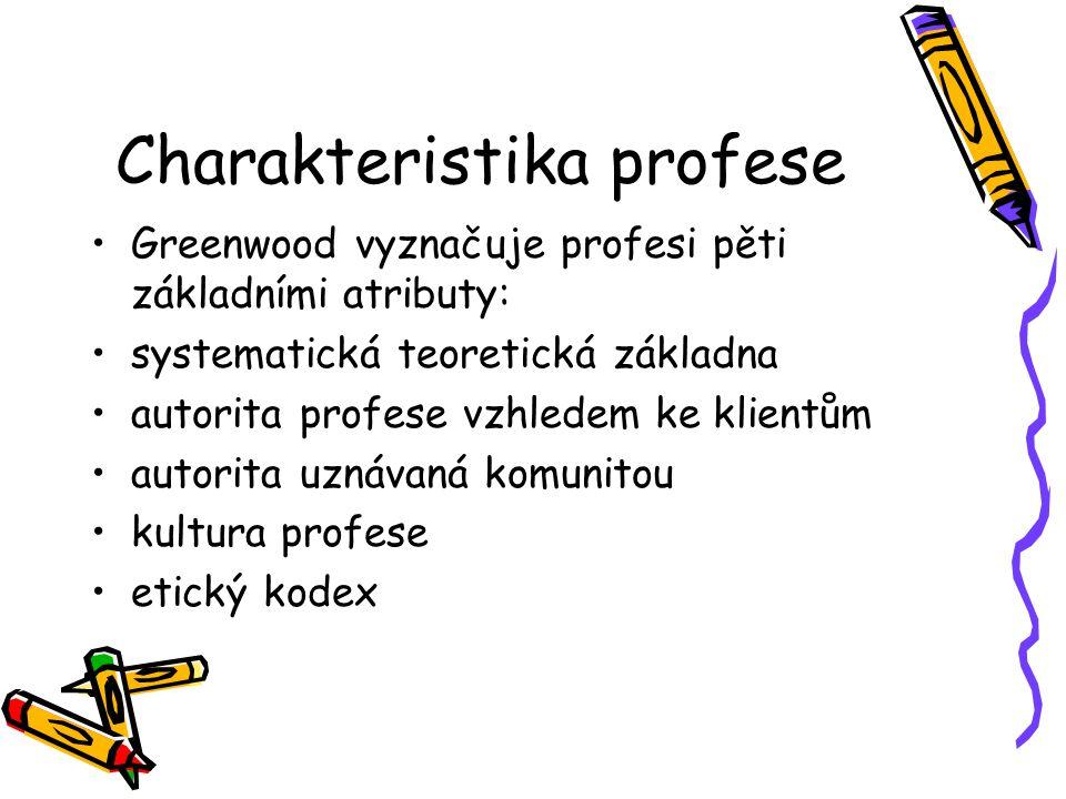 Charakteristika profese