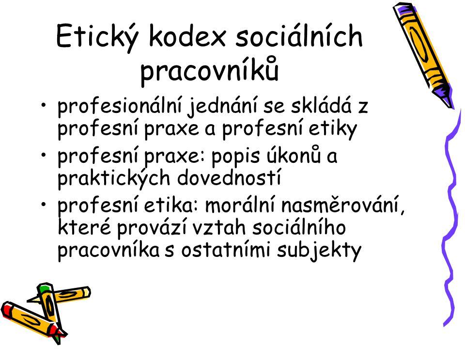 Etický kodex sociálních pracovníků