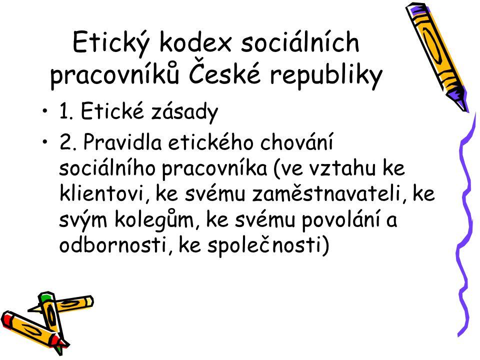 Etický kodex sociálních pracovníků České republiky