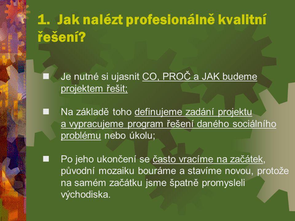 1. Jak nalézt profesionálně kvalitní řešení
