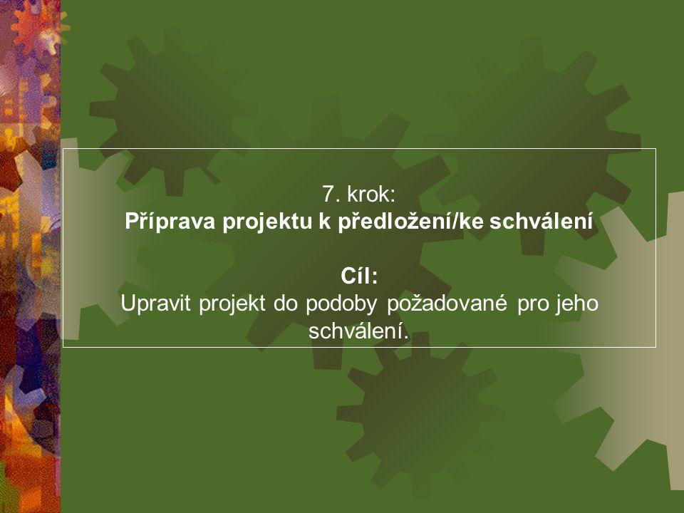 Příprava projektu k předložení/ke schválení