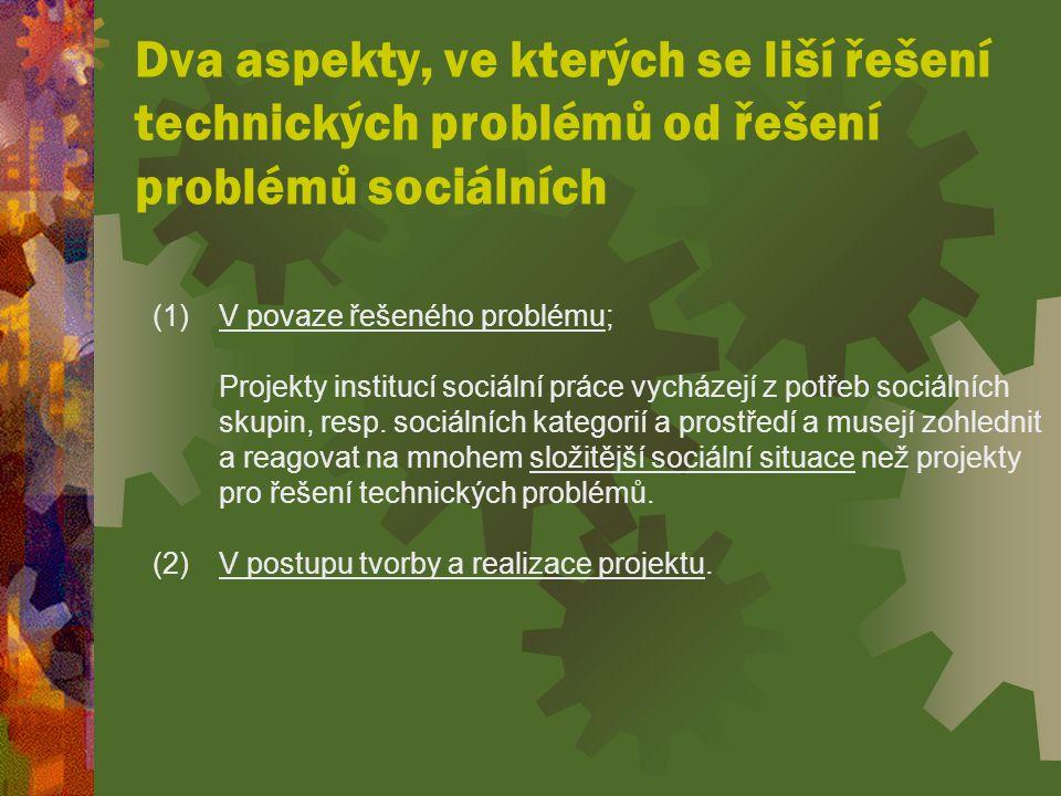 Dva aspekty, ve kterých se liší řešení technických problémů od řešení problémů sociálních