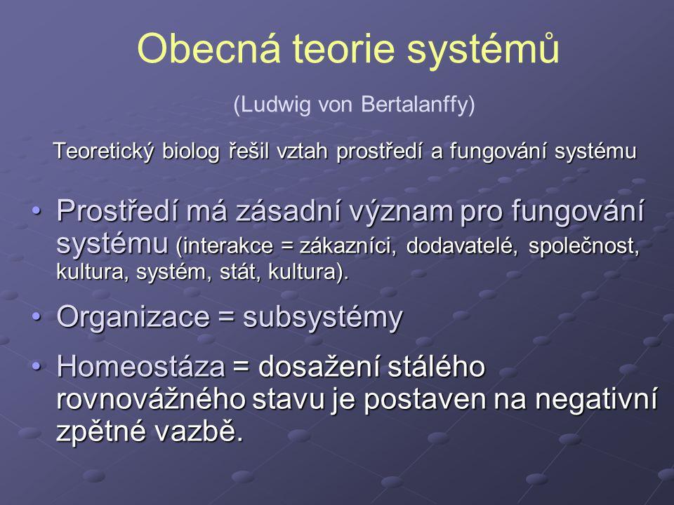 Obecná teorie systémů (Ludwig von Bertalanffy)