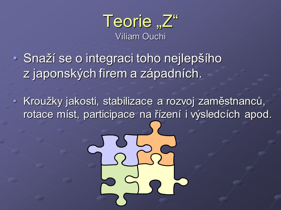 "Teorie ""Z Viliam Ouchi"