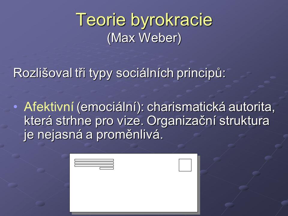Teorie byrokracie (Max Weber)