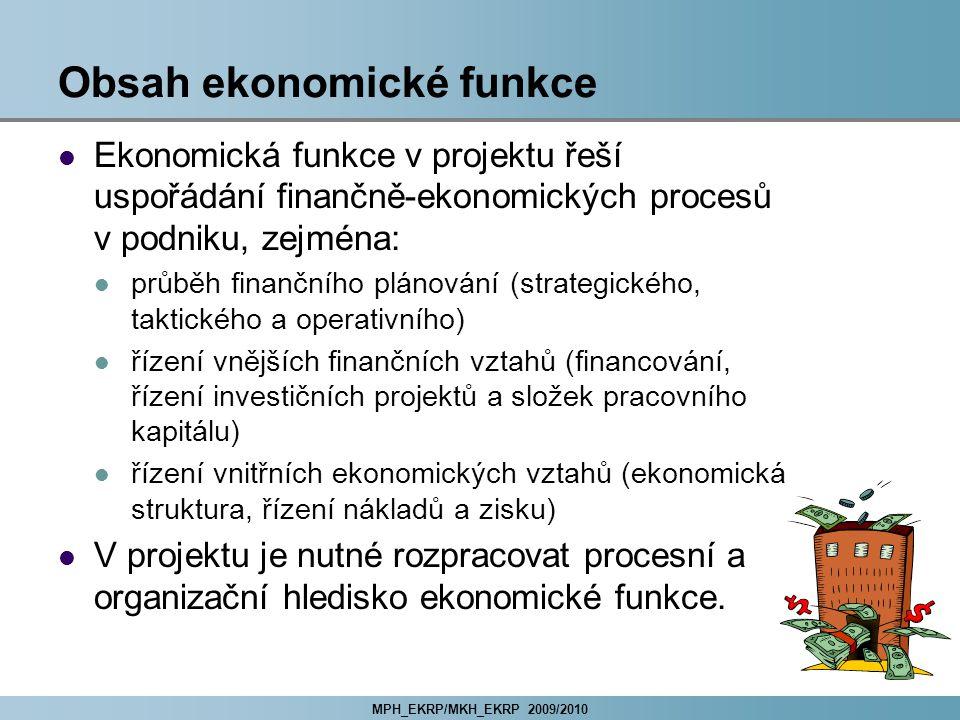 Obsah ekonomické funkce