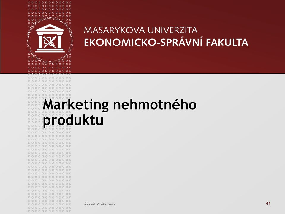 Marketing nehmotného produktu