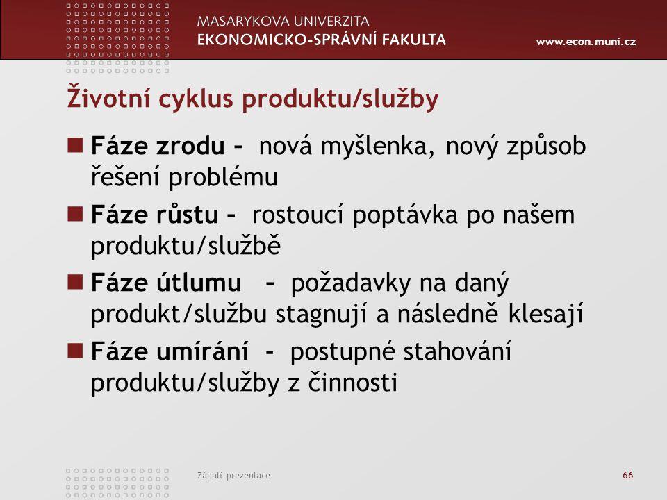 Životní cyklus produktu/služby