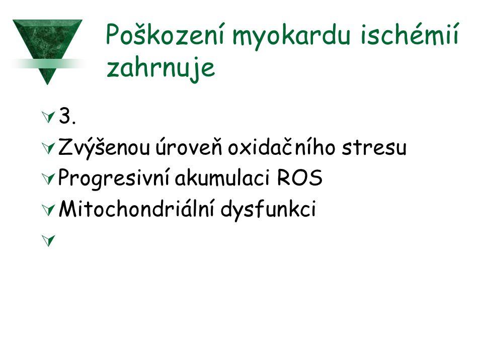 Poškození myokardu ischémií zahrnuje