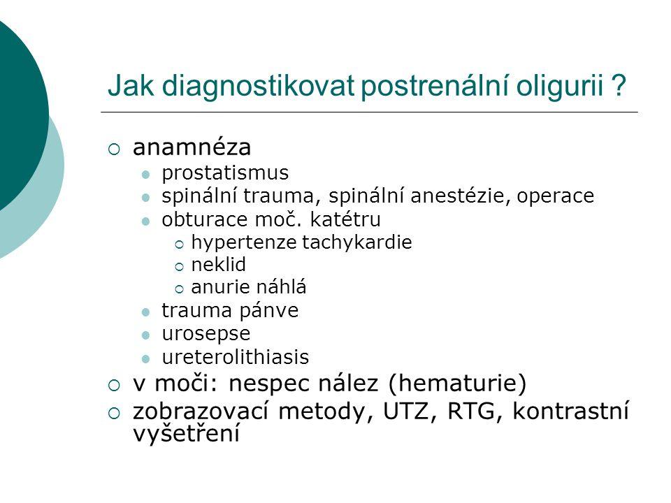 Jak diagnostikovat postrenální oligurii