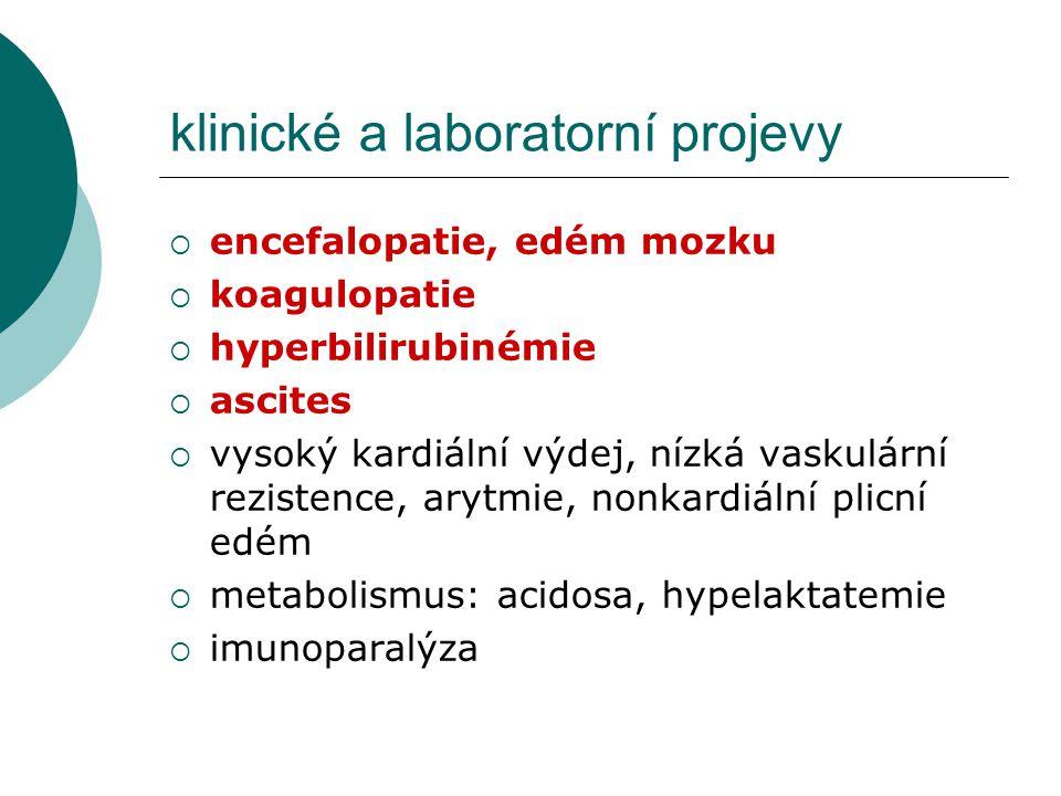 klinické a laboratorní projevy