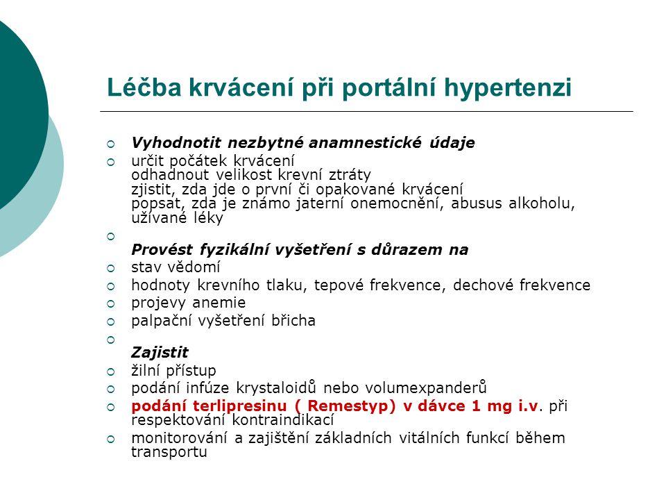 Léčba krvácení při portální hypertenzi