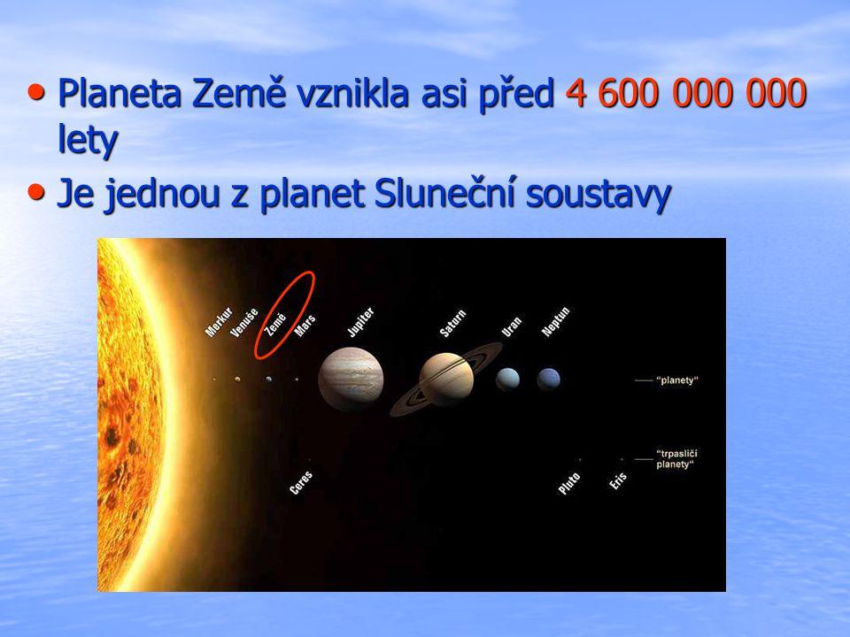 Planeta Země vznikla asi před 4 600 000 000 lety