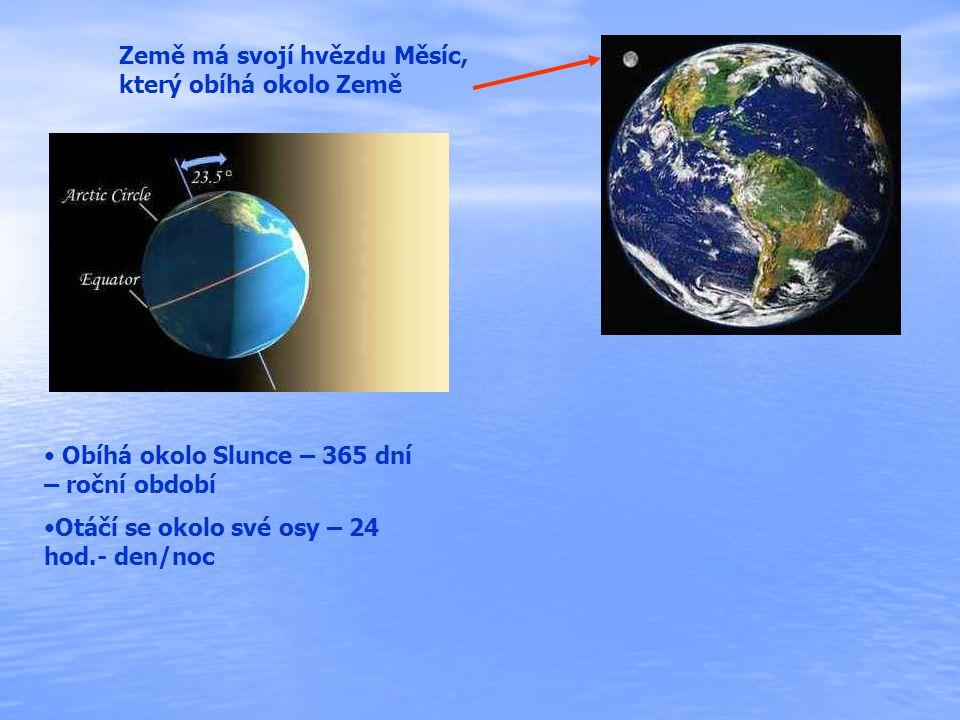 Země má svojí hvězdu Měsíc, který obíhá okolo Země