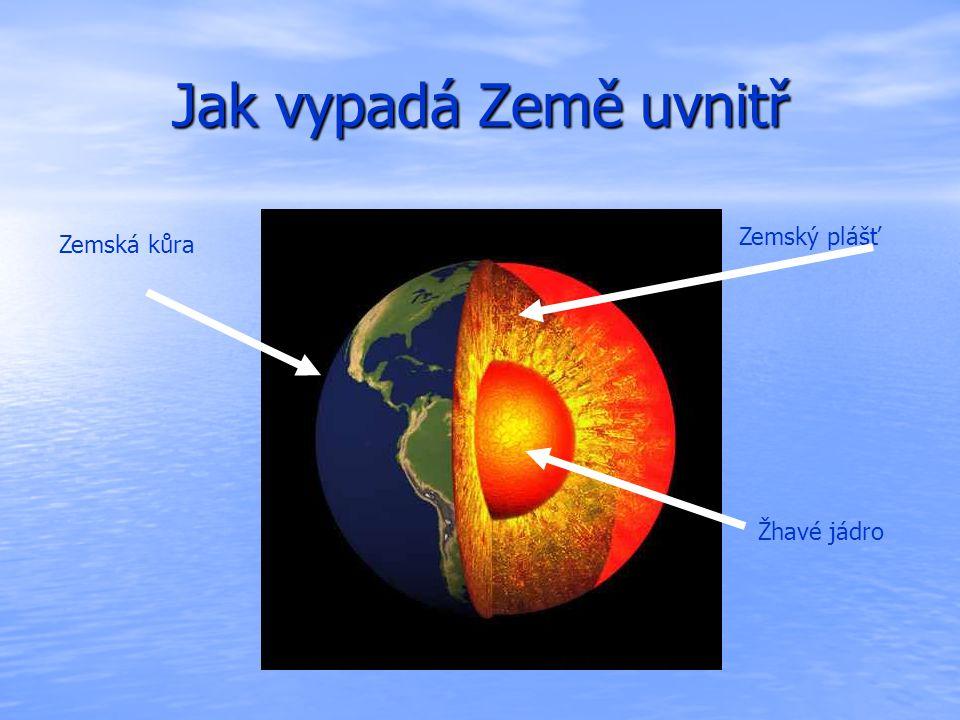 Jak vypadá Země uvnitř Zemský plášť Zemská kůra Žhavé jádro