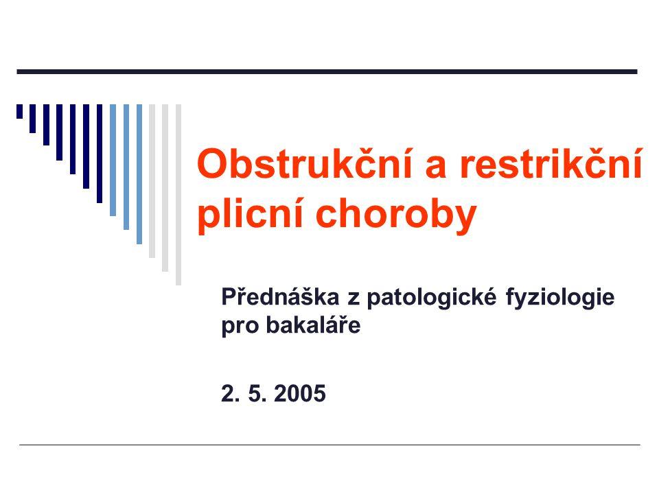 Přednáška z patologické fyziologie pro bakaláře 2. 5. 2005