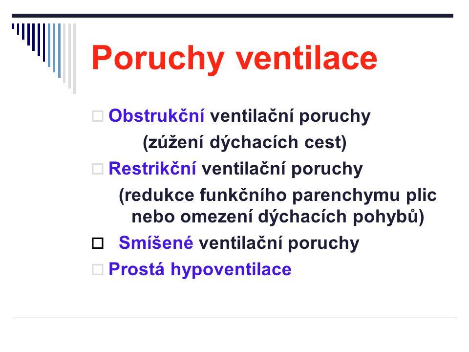 (redukce funkčního parenchymu plic nebo omezení dýchacích pohybů)