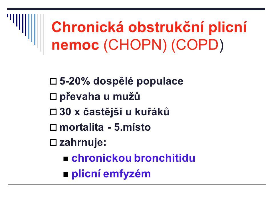Chronická obstrukční plicní nemoc (CHOPN) (COPD)