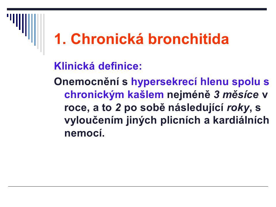 1. Chronická bronchitida