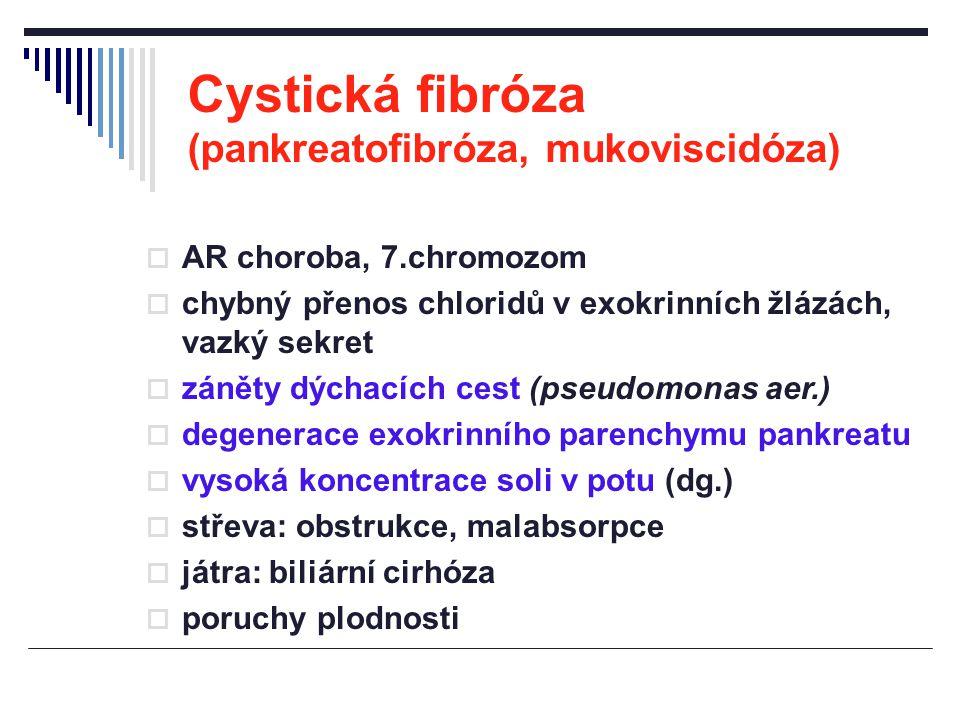 Cystická fibróza (pankreatofibróza, mukoviscidóza)