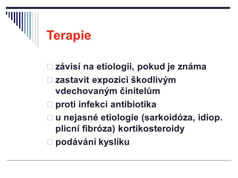 Terapie závisí na etiologii, pokud je známa
