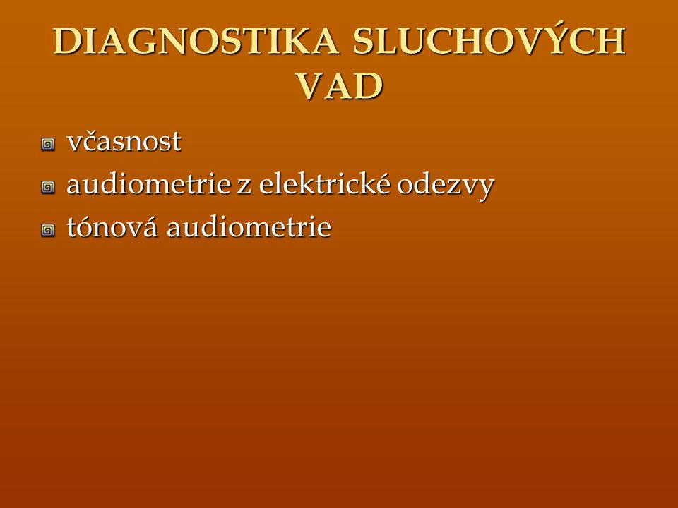 DIAGNOSTIKA SLUCHOVÝCH VAD
