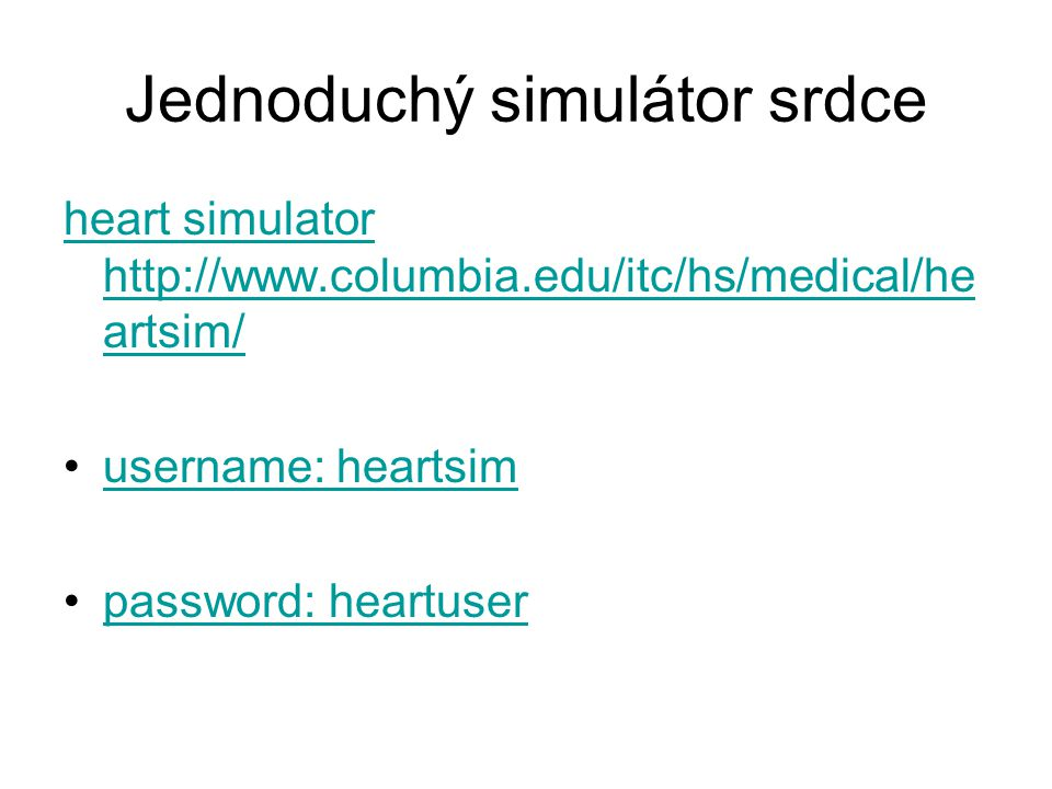 Jednoduchý simulátor srdce