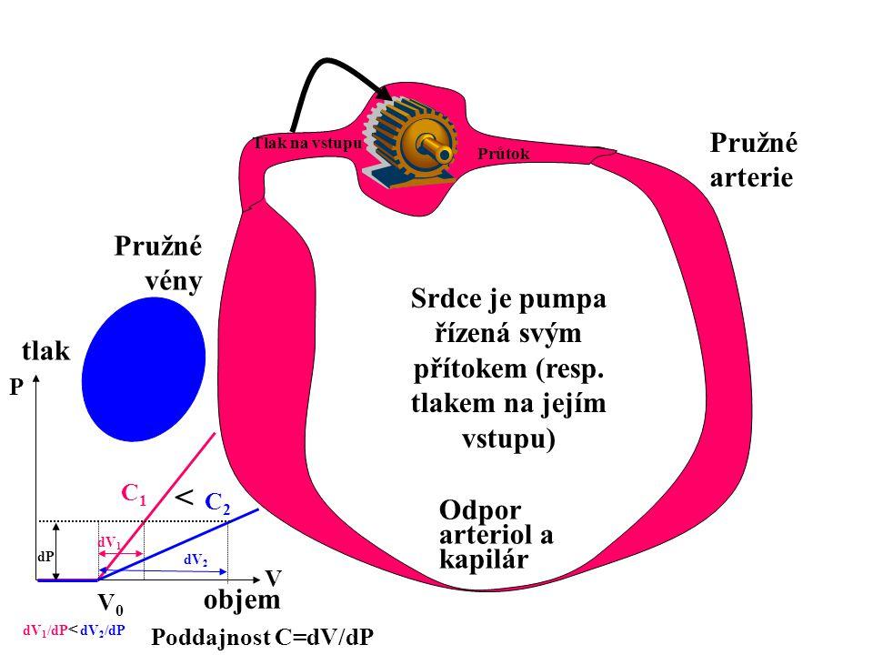 Srdce je pumpa řízená svým přítokem (resp. tlakem na jejím vstupu)