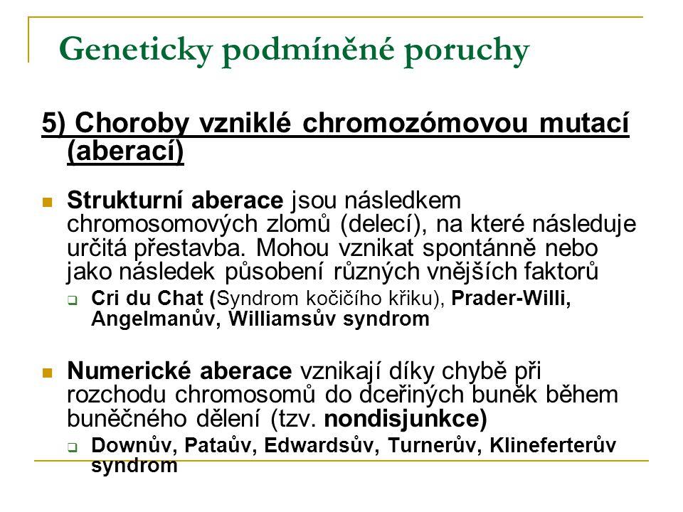 Geneticky podmíněné poruchy