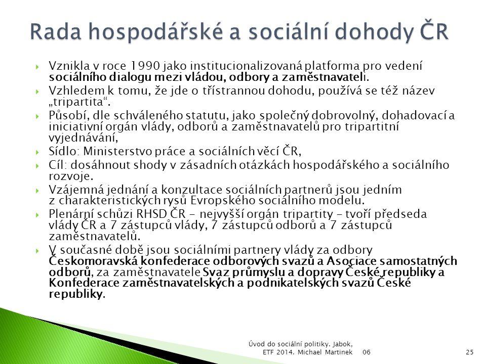 Rada hospodářské a sociální dohody ČR