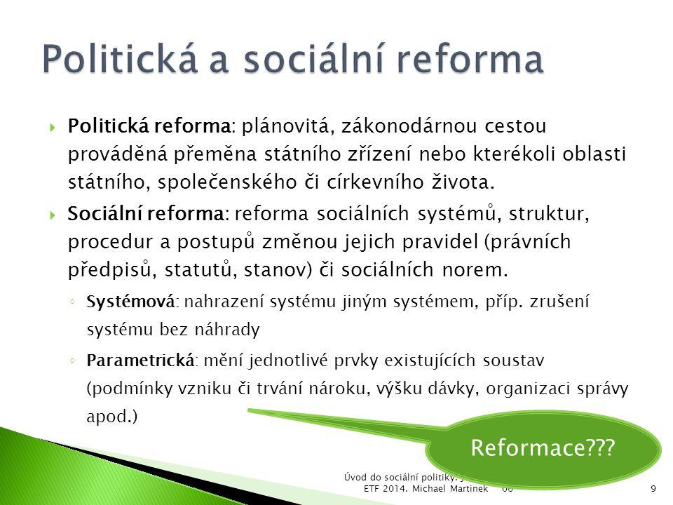 Politická a sociální reforma