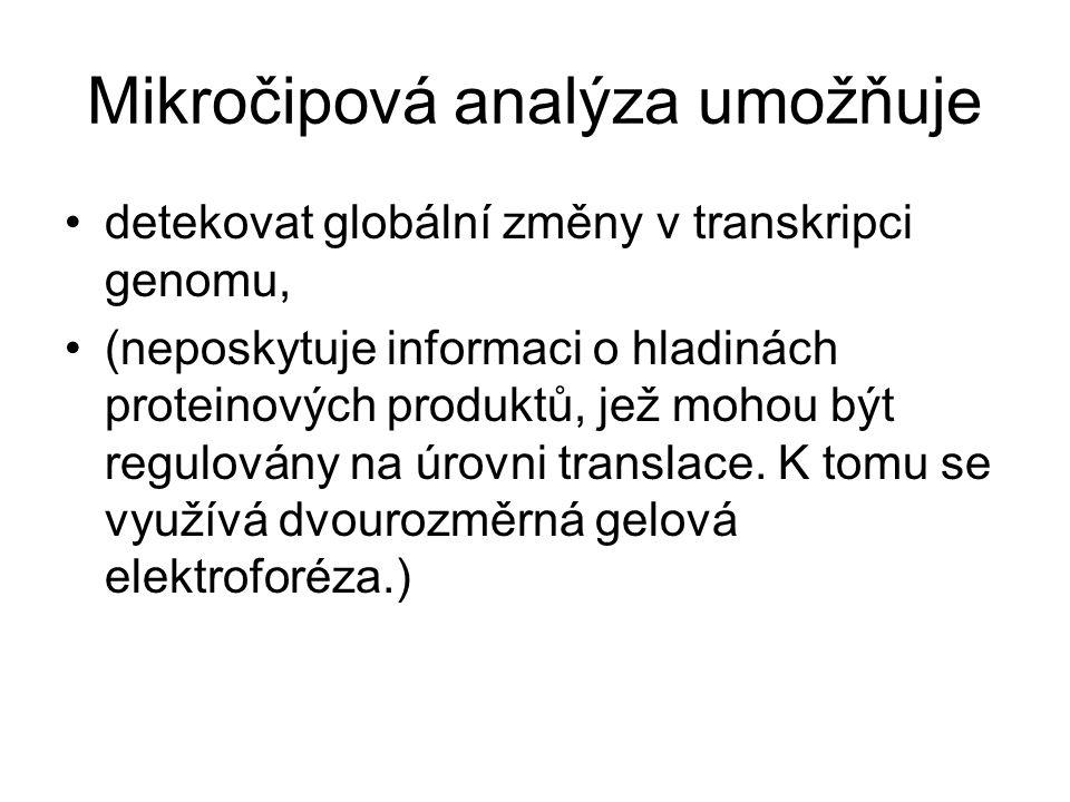 Mikročipová analýza umožňuje
