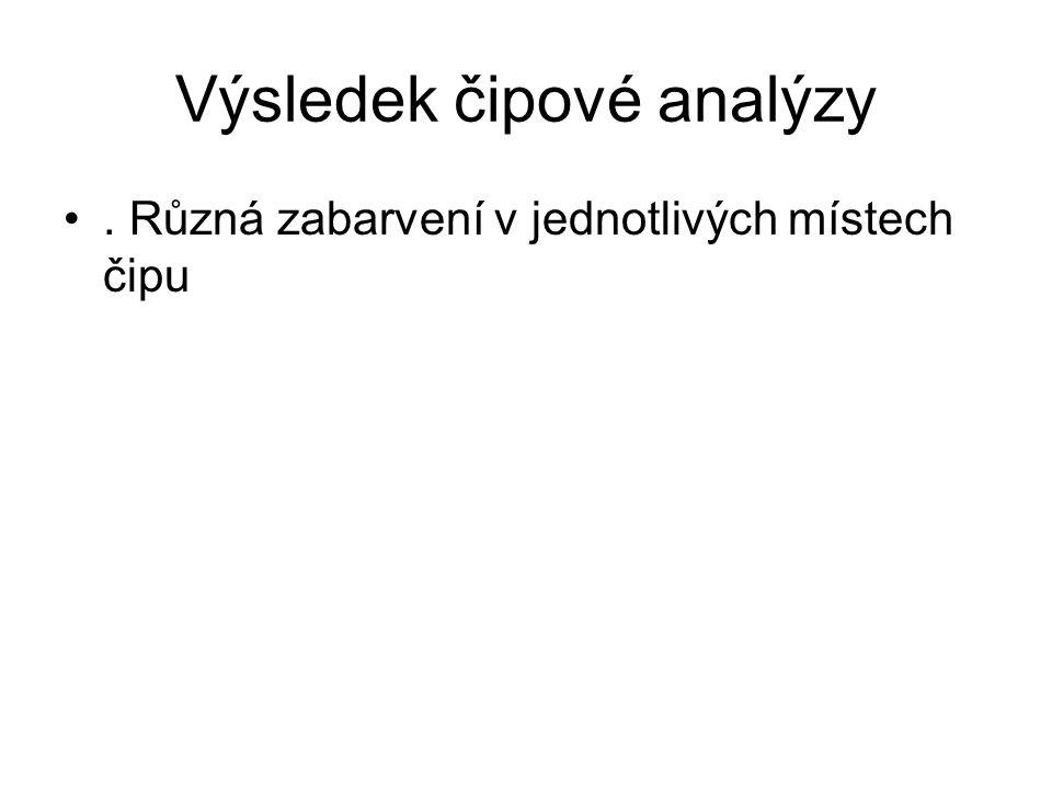 Výsledek čipové analýzy
